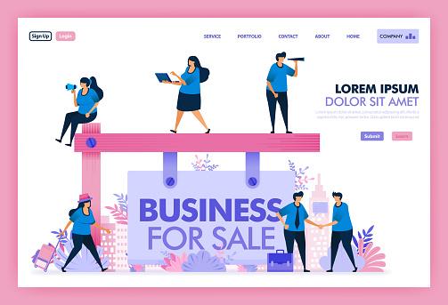 Flat illustration web template