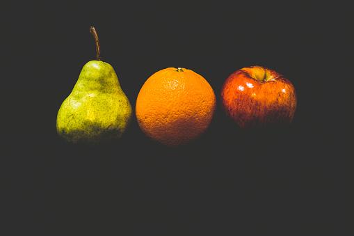 fruit on dark background
