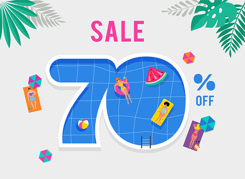 Summer time sale illustration