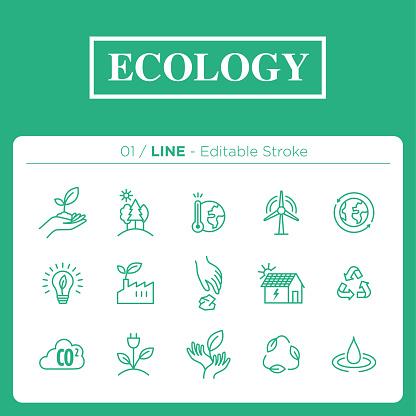 Icon set - editorial stroke style