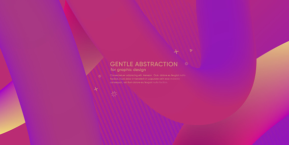 Abstract wallpaper with 3d dynamic shape