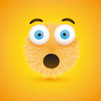 Emoticon on Yellow Background