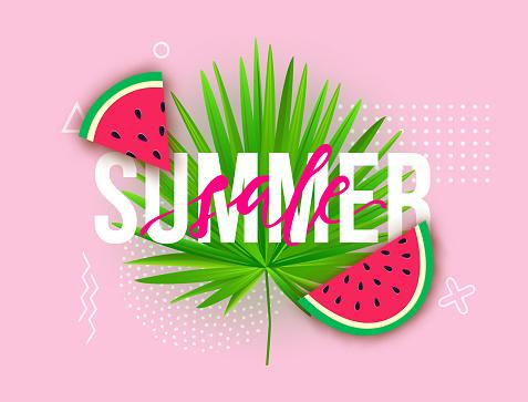 Summer concept banner