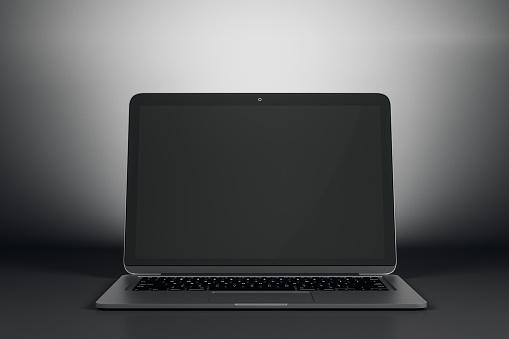 Empty computer screen