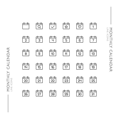 Slim Modern Line Icons