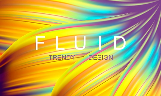 3D liquid waves background