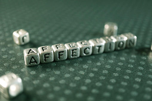 shot of silver block letters