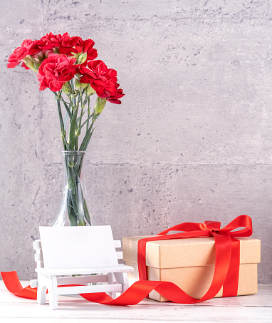 Beautiful blooming carnations