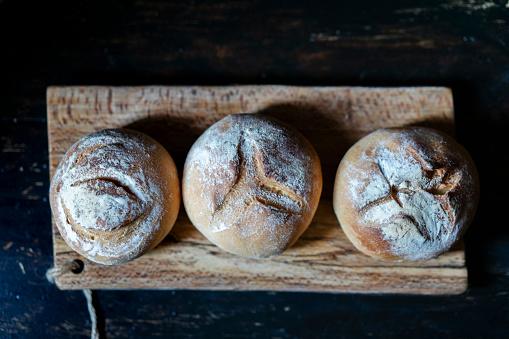 Wholegrain rustic bun