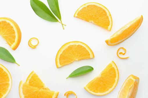 Tasty ripe oranges