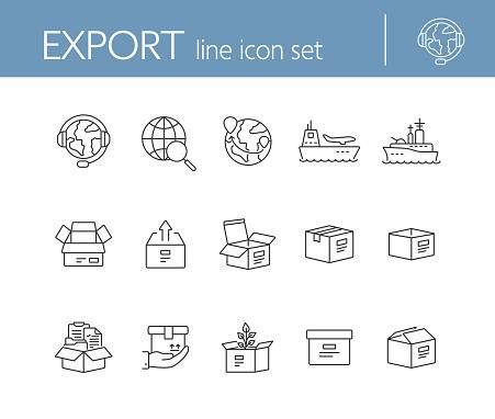 Line icon set 15
