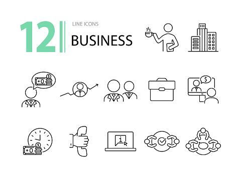 Business icon set 12