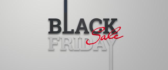 Black friday sale inscription