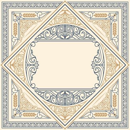 Vintage ornate decorative design