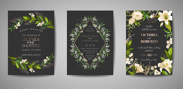 Floral invite card