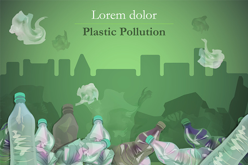 Plastic pollution background