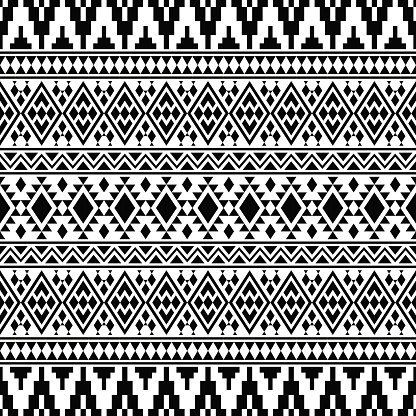 Ikat Ethnic Aztec Pattern Illustration