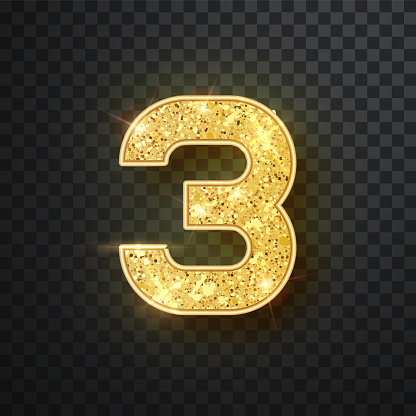 Gold sparkling Numbers