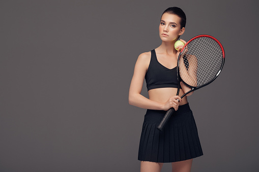 Beauty woman playing tennis