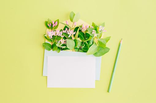 Mockup white greeting card