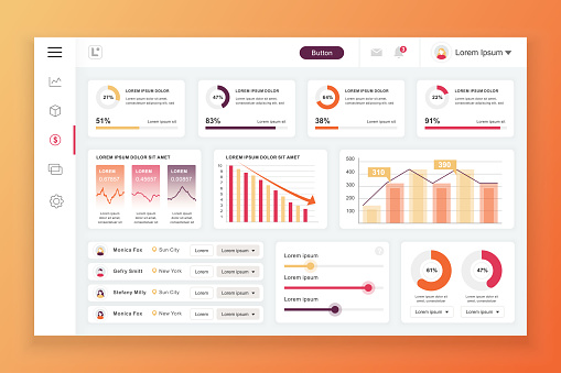Dashboard design template