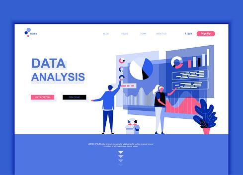 Flat web page design template