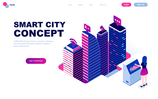 Isometric concept web template