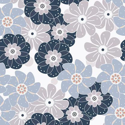 Universal floral seamless pattern