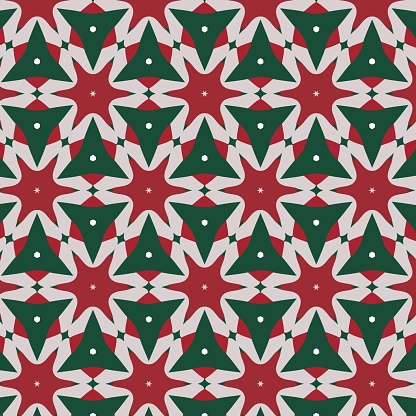 Vintage christmas pattern in retro 80s style