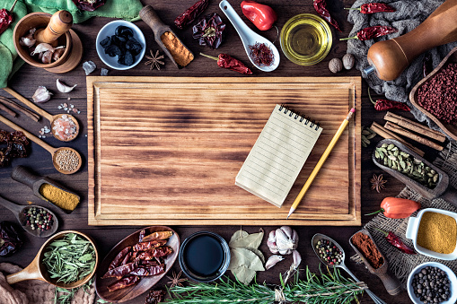 Variety of allspice ingredients