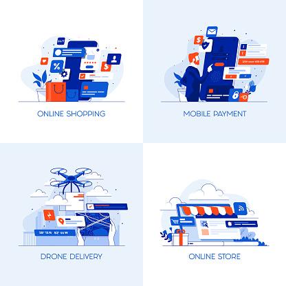 Flat Designed Conceptual illust 10