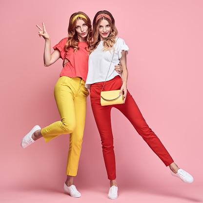 Two Fashion woman