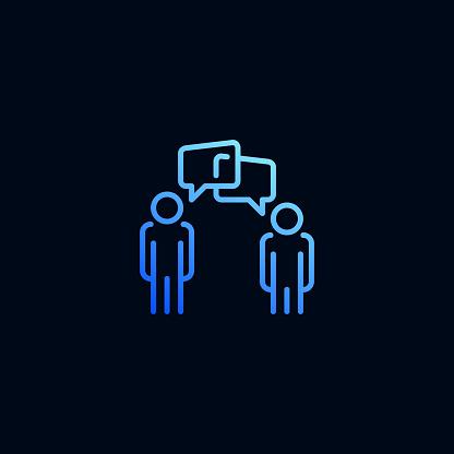 커뮤니케이션 라인 아이콘