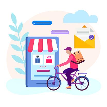 Online concept illustration