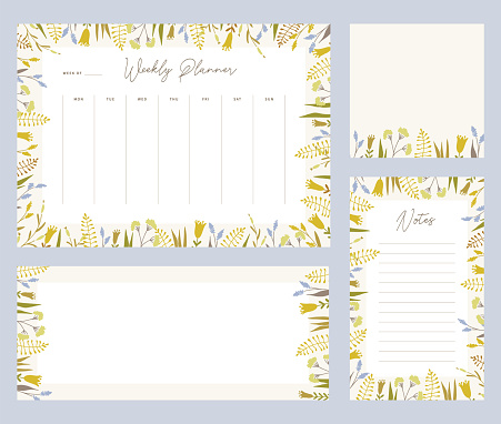 Floral organizers and templates