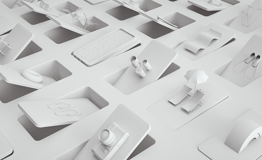 3d image Objects on White