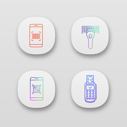 Barcodes icon set