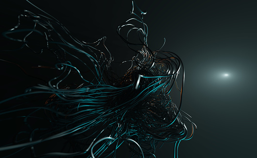 3D abstract tentacles
