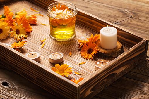 Medicinal flowers of calendula
