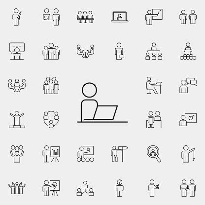 Organisation icons set