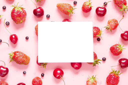 Creative layout of berries