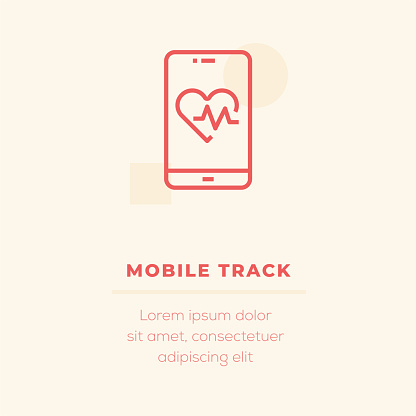 Mobile Track Vector Icon, Stock Illustration