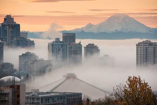 Seattle in Fog