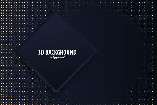 Geometric background 3d paper cut