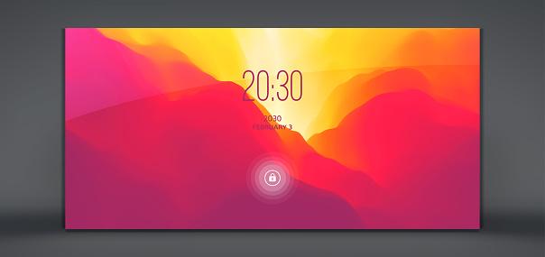 Modern lock screen for mobile apps