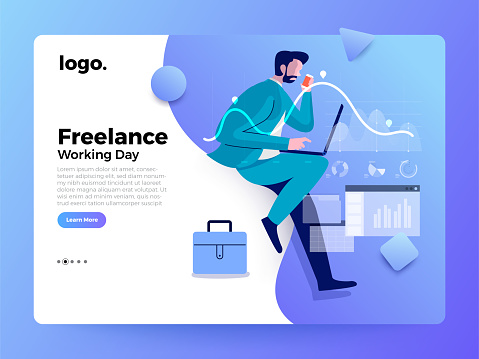 Landing Page Business people