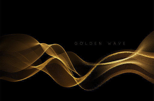 Abstract gold wave