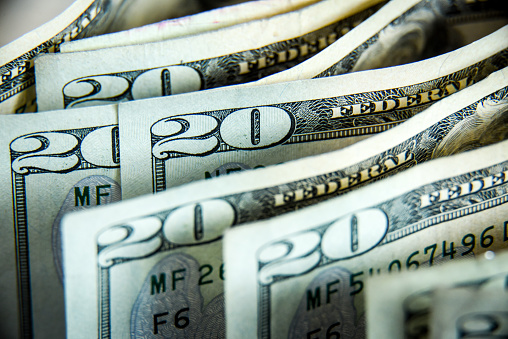 Twenty dollars bills