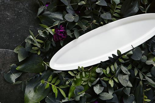 White Restaurant Plate