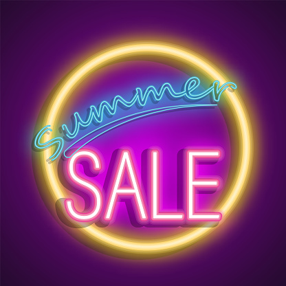 Neon sale banner